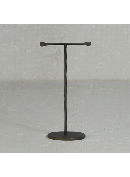 HomArt Maddox Forged Iron Jewelry T Stand - Mini - Black