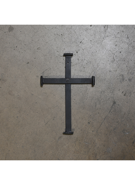 HomArt Large Black Forged Iron Cross
