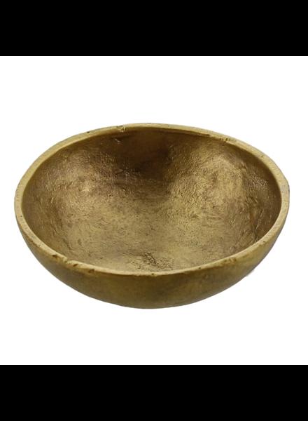 HomArt Tiny Cast Round Bowl - Brushed Brass - Set of 2