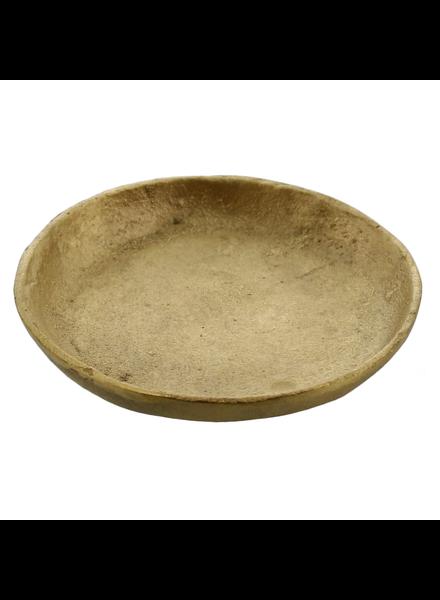 HomArt Tiny Cast Round Plate - Brushed Brass - Set of 2