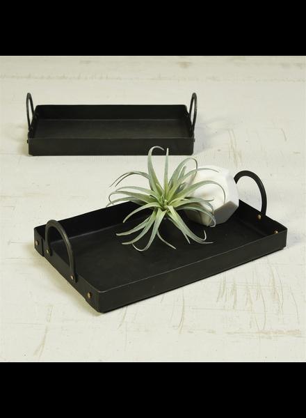 HomArt Presidio Tray with Handles, Iron - Black