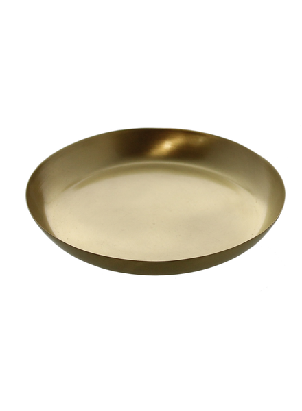 HomArt Satin Tray - Med - Brushed Brass