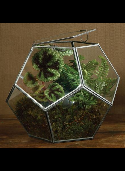 HomArt Pierre Faceted Terrarium - Lrg - Zinc