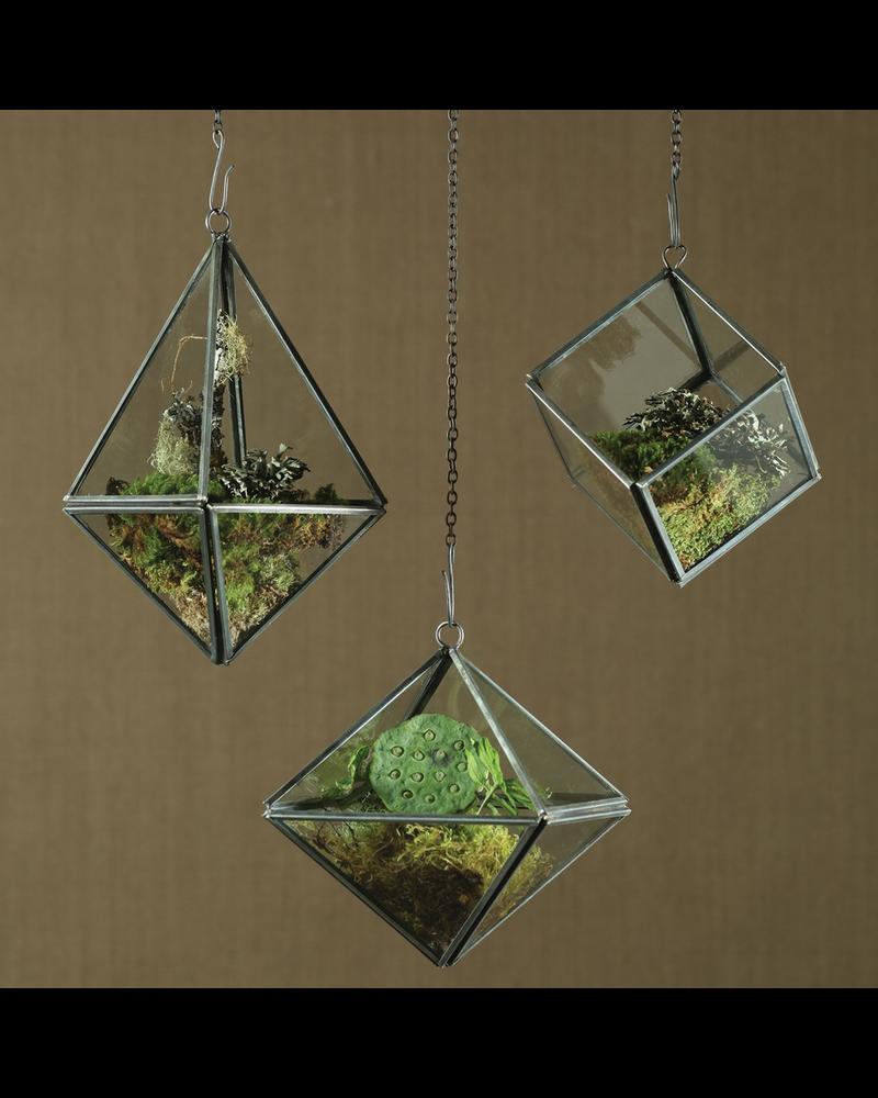 HomArt Pierre Geometric Terrarium - Octahedron - Zinc