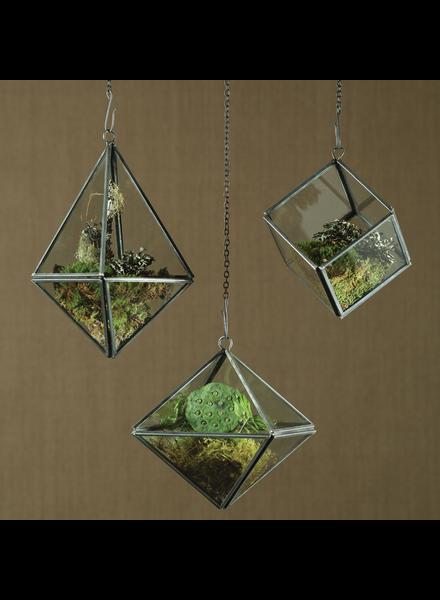 HomArt Pierre Geometric Terrarium - Tetrahedron - Zinc