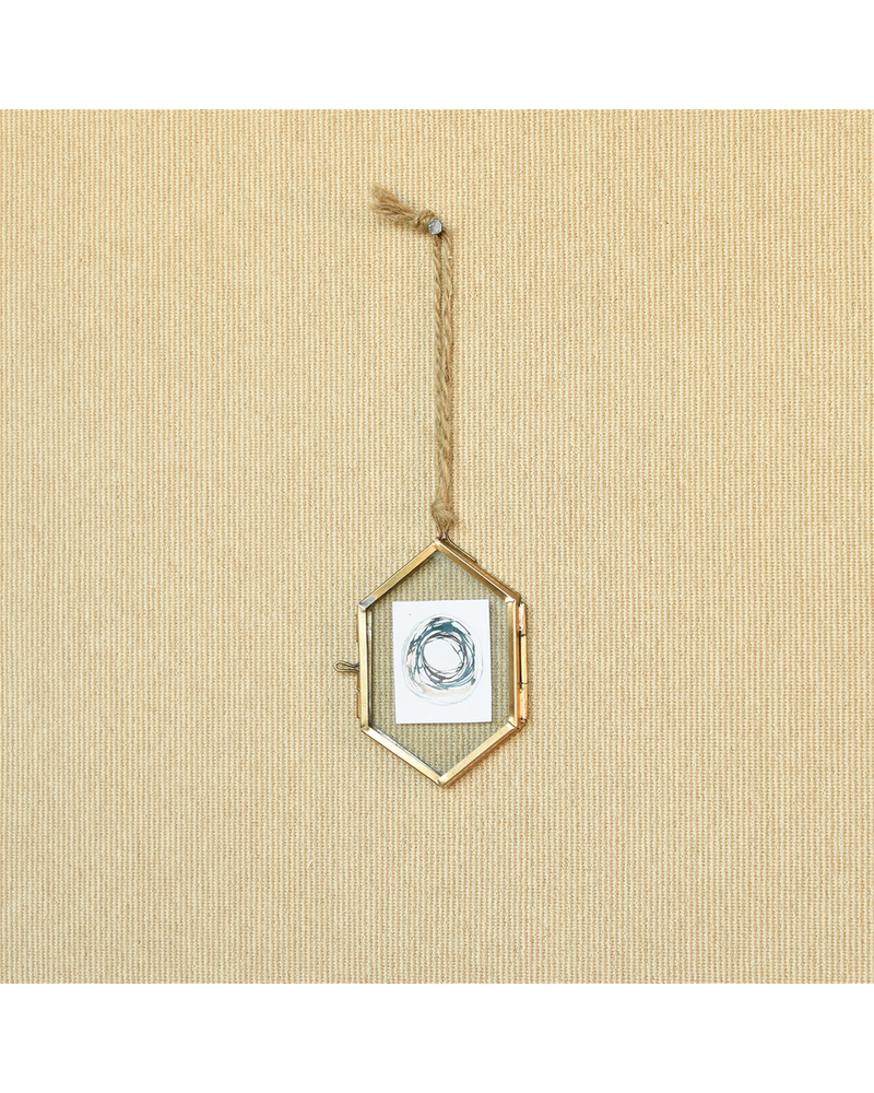 HomArt Geo Ornament Frame, Brass - Sm