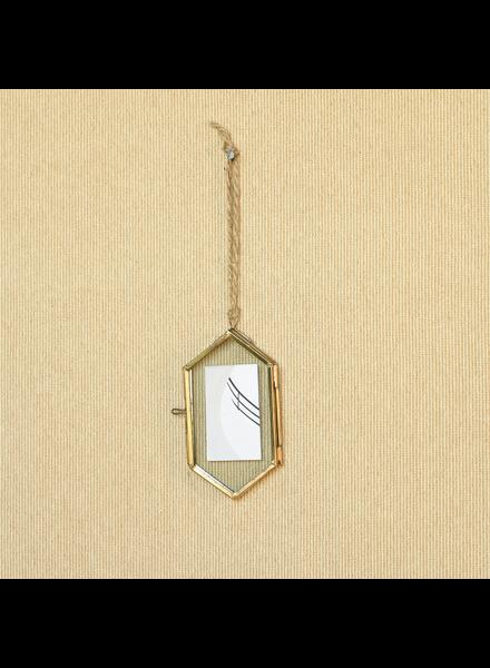 HomArt Geo Ornament Frame, Brass - Med