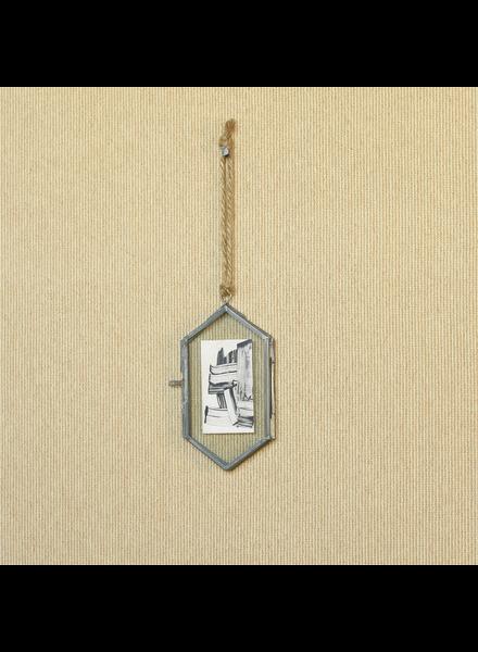 HomArt Geo Ornament Frame, Zinc - Med - Burnt Antique