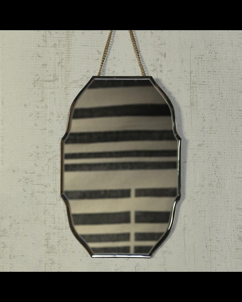 HomArt Farrah Beveled Mirror, Brass - Oval