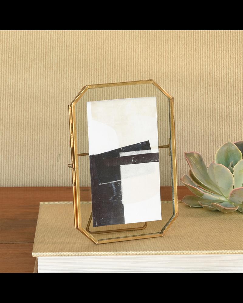 HomArt Monroe Easel Frame, Brass - 4x6