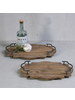 HomArt Pisco Wood Tray with Metal Handles - Lrg