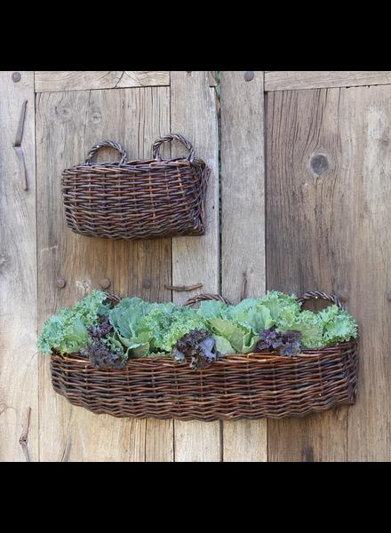 HomArt Willow Rectangle Wall Basket - Sm - Natural