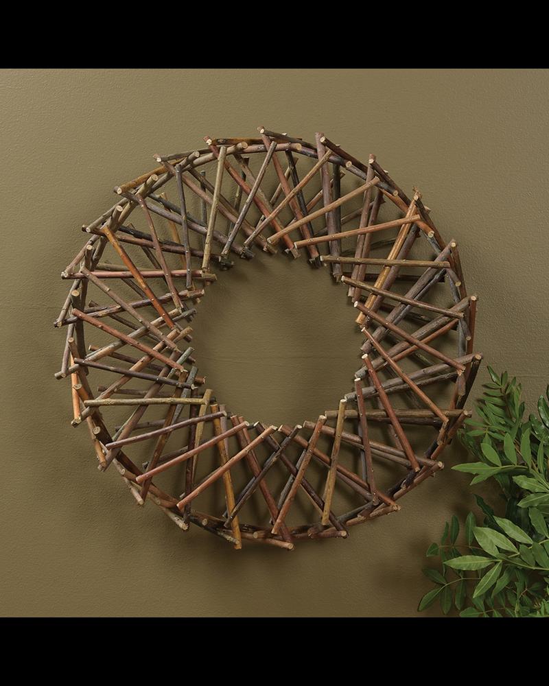 HomArt Expanding Willow Wreath - Natural