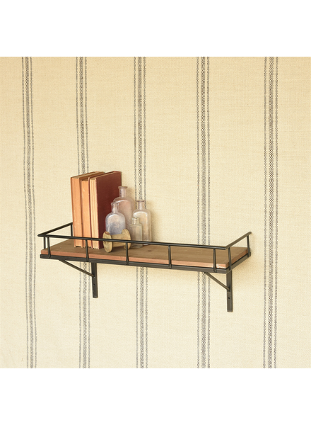 HomArt Billy Wall Shelf, Wood and Iron - Lrg