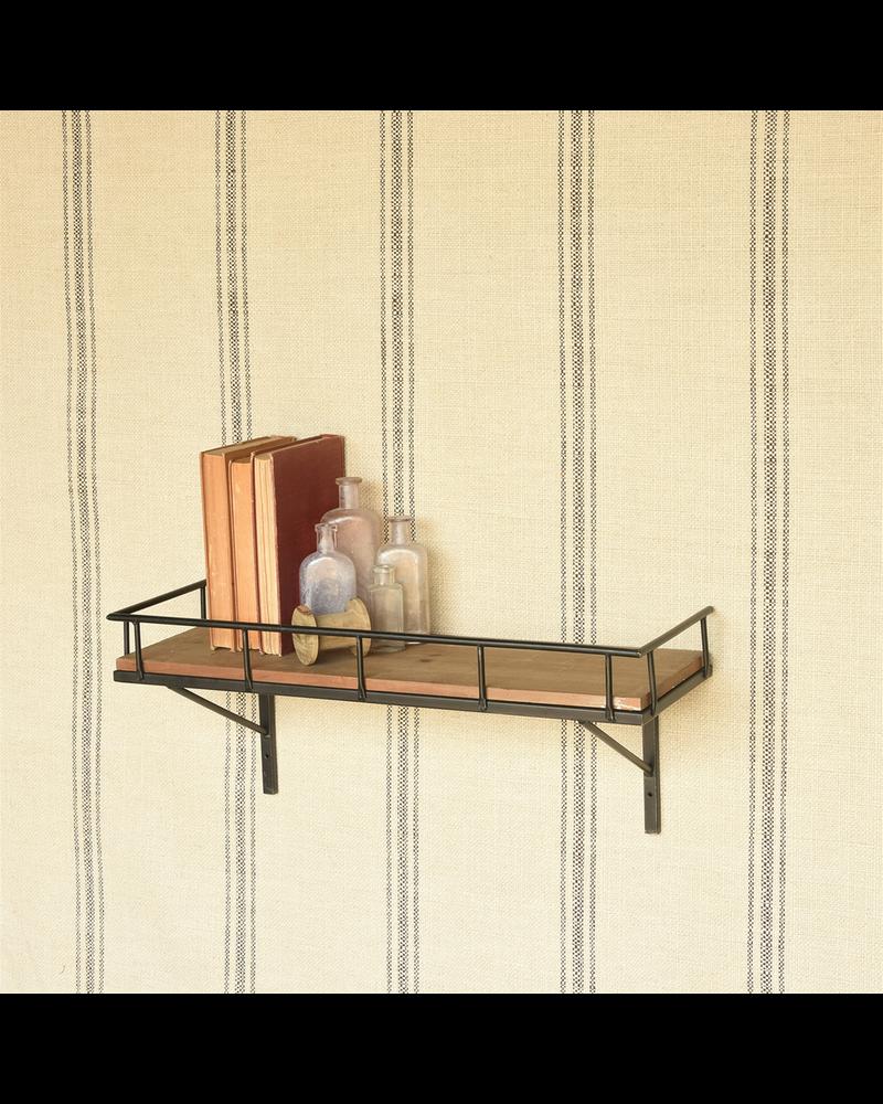 HomArt Billy Wall Shelf, Wood and Iron - Lrg
