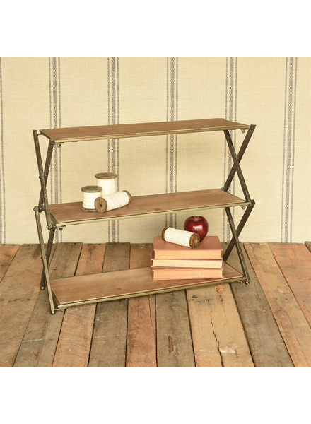 HomArt Jennings Three-Tier Display Stand, Wood and Iron