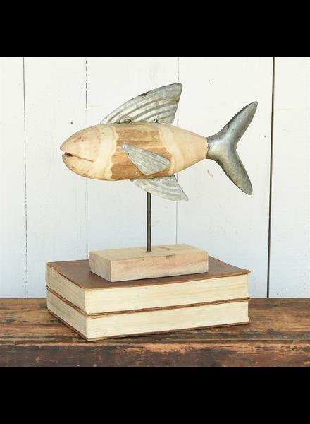 HomArt Fish Assemblage, Wood & Metal - Lrg