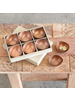 HomArt Alma Metal Tealight Holder - Boxed Set of 6 - Copper