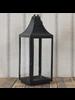 HomArt Cole Metal Lantern - Lrg - Black Waxed
