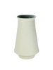 HomArt Pacific Ceramic Vase - White OUT - Grey IN