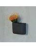 HomArt Ceramic Wall Pocket, Rect - Sm - Grey