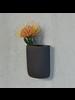 HomArt Ceramic Wall Pocket - Tall - Grey