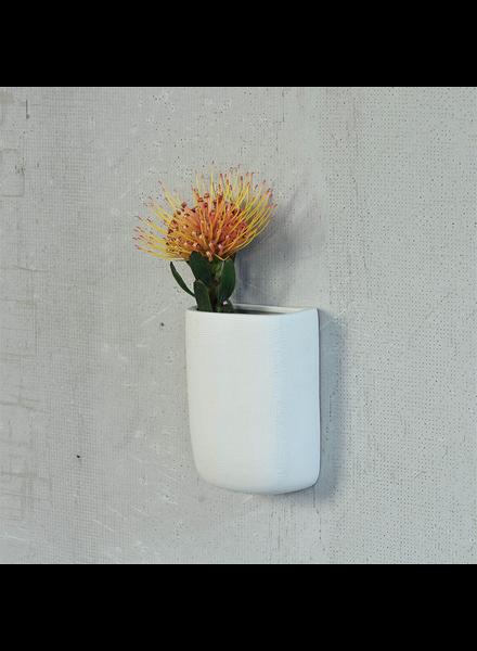 HomArt Ceramic Wall Pocket - Tall - White