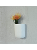 HomArt Ceramic Wall Pocket - Tall - White