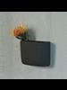 HomArt Ceramic Wall Pocket, Rect - Lrg - Grey