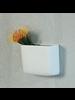 HomArt Ceramic Wall Pocket, Rect - Lrg - White