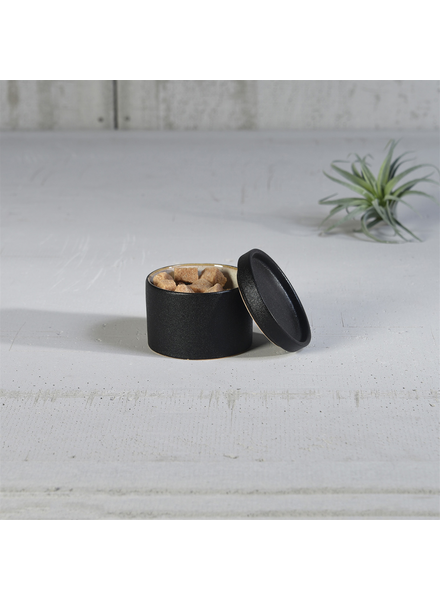 HomArt Black Dominic Canister, Ceramic