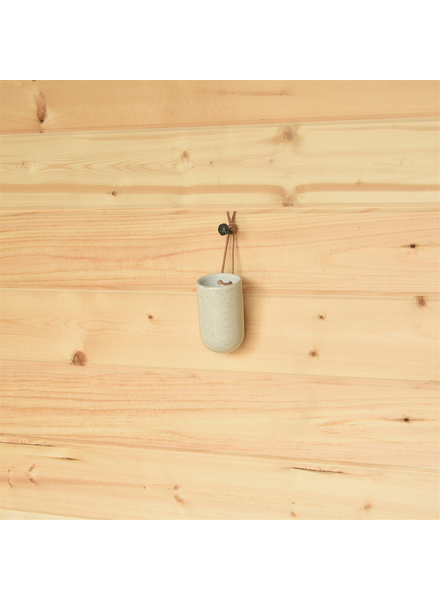HomArt Small Logan Hanging Vase, Ceramic - Speckled White - Set of 2