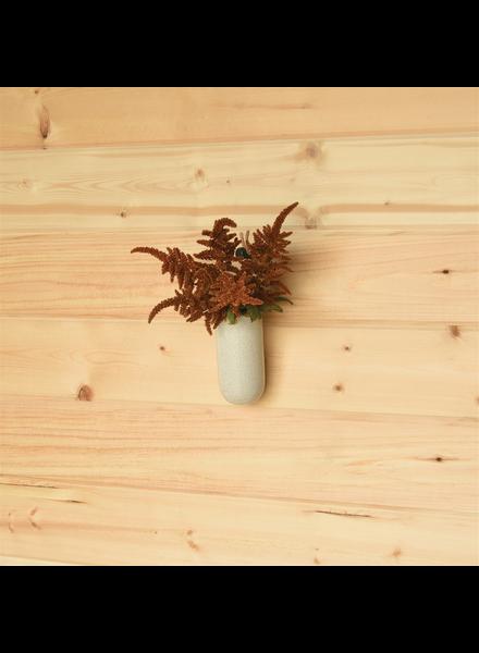 HomArt Large Logan Hanging Vase, Ceramic - Speckled White