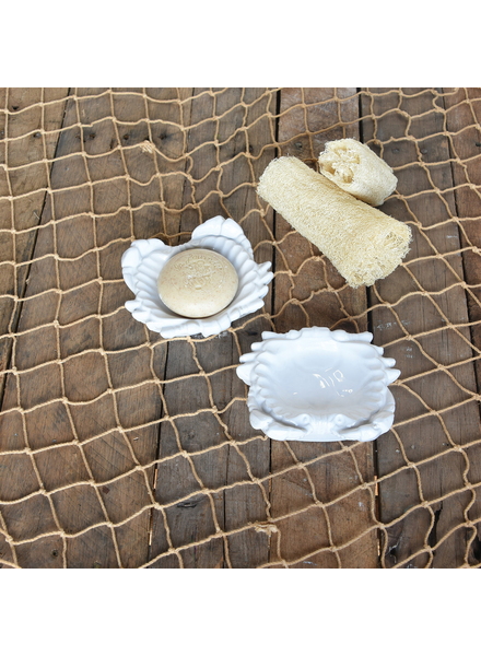 HomArt Crab Soap Dish, Ceramic - Sm - White