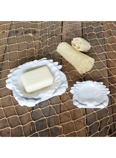 HomArt Crab Soap Dish, Ceramic - Lrg - White