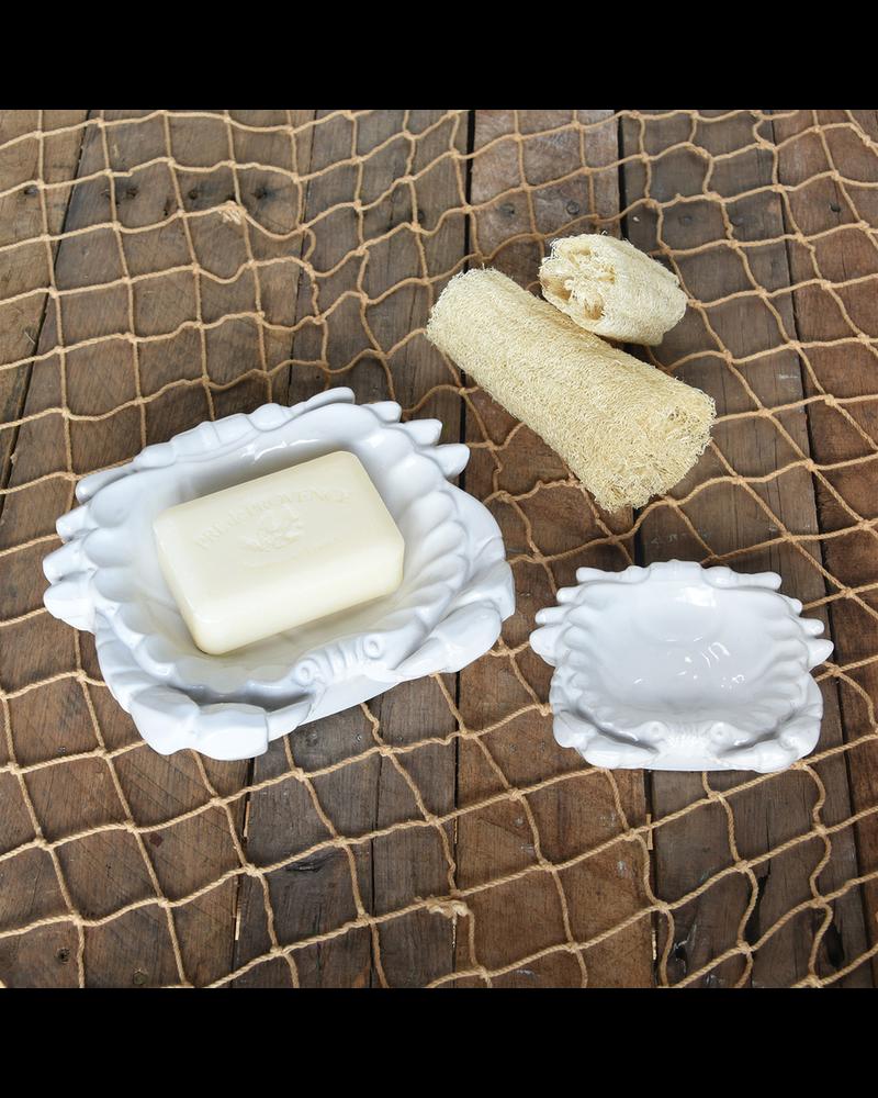 HomArt Crab Soap Dish, Ceramic - Lrg - White
