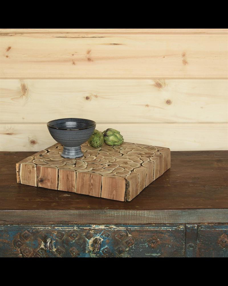 HomArt Levi Footed Bowl, Ceramic - Sm - Fancy Blue