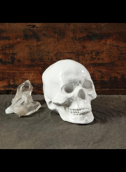 HomArt Ceramic Skull - White