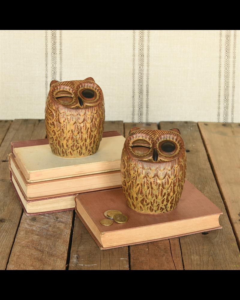 HomArt Owl Bank, Ceramic - Brown