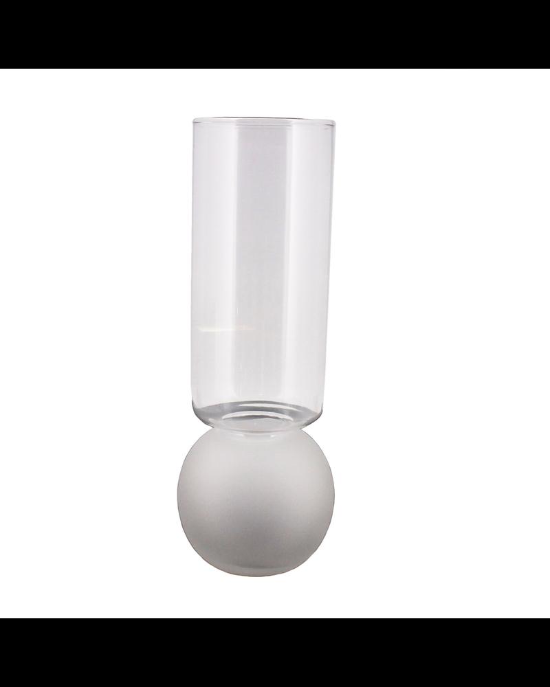 HomArt Bulb Vase Tall - Frost