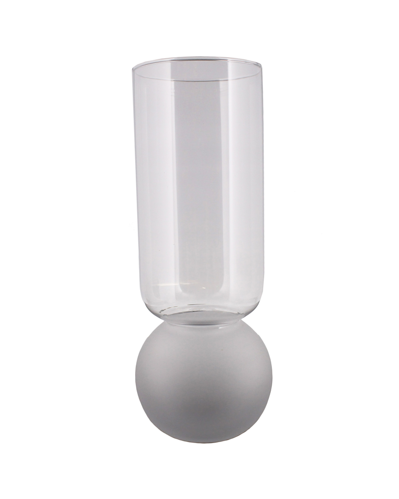 HomArt Bulb Vase Extra Tall - Frost