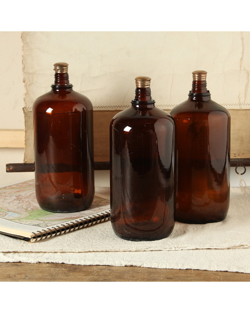 HomArt Brown Glass Bottle - Lrg