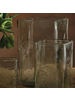 HomArt Hamilton Vase Sqr - Med - Clear