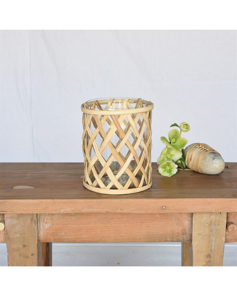 HomArt Cane Weave Vase - Med