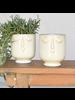 HomArt Large Celia Cachepot, White, Ceramic