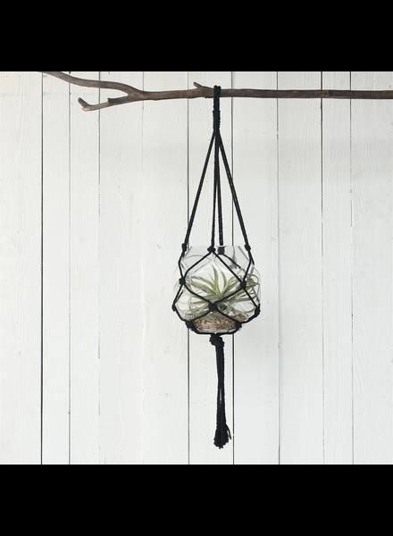 HomArt Macrame Hanger - Black Cotton