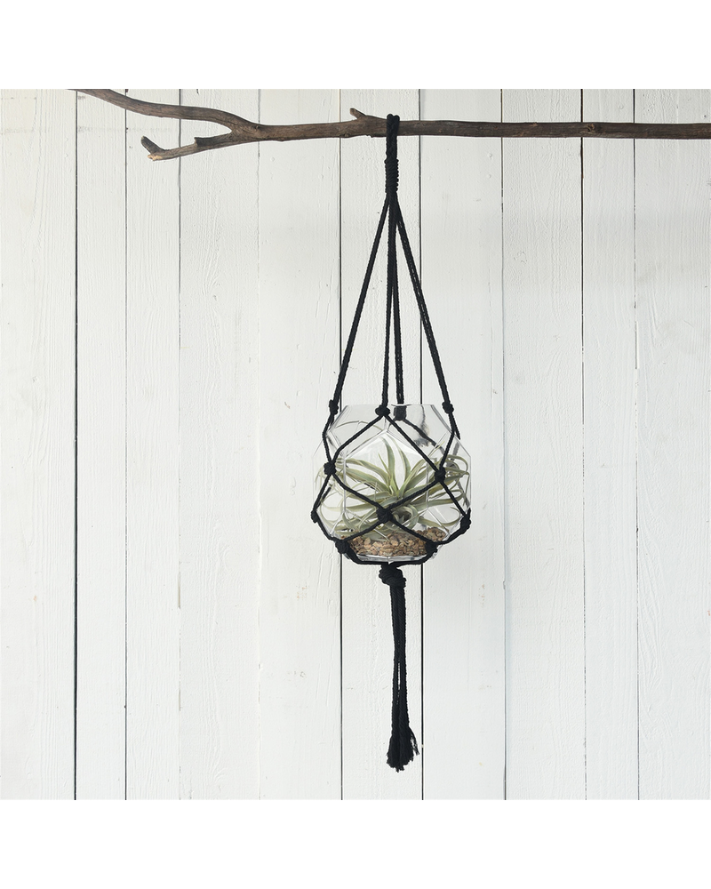 HomArt Macrame Hanger - Black Cotton