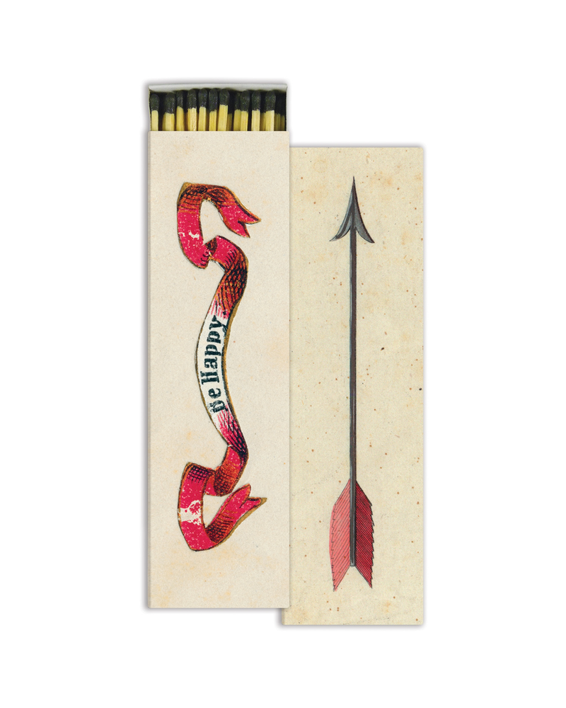 HomArt Be Happy & Arrow HomArt Matches - Set of 2