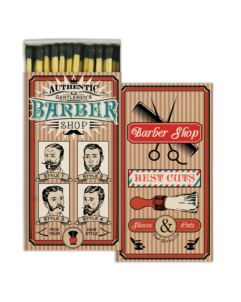 HomArt Barber Shop HomArt Matches - Set of 3