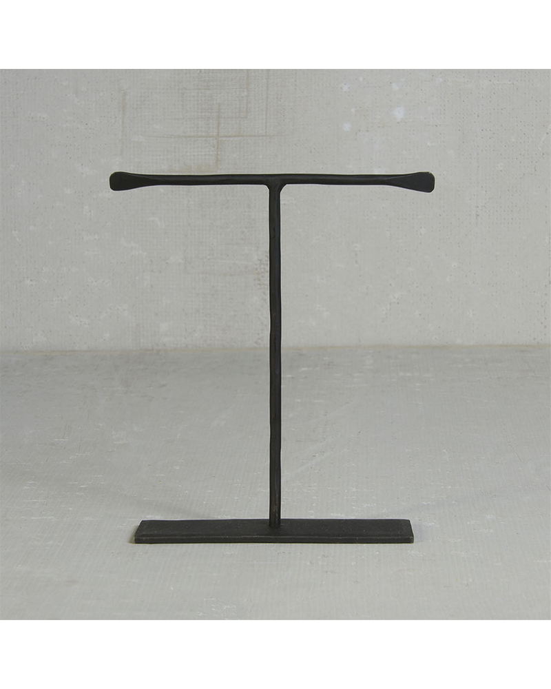 HomArt Maddox Forged Iron Jewelry T Stand - Med 8 - Black